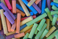 Many colorful crayons artist background Royalty Free Stock Photos
