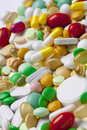 Many colorful medicines background from Stock Image