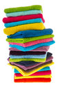 Many colorful towels Royalty Free Stock Photo
