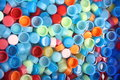 Many colors bottle caps caps four colors Stock Photography