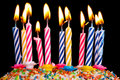 Many coloured candles Royalty Free Stock Photo