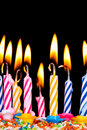Many coloured candles Royalty Free Stock Photography