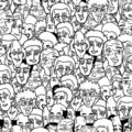 Many comic faces Royalty Free Stock Images