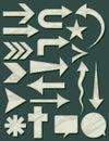 Many crumple shapes, vector Royalty Free Stock Photo