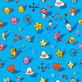 Many cute cartoon characters seamless pattern Royalty Free Stock Photo