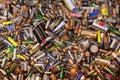Many dead batteries Royalty Free Stock Photo