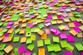 Many different colors paper notes Royalty Free Stock Photo
