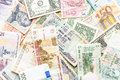 Many different currencies as background colorful concept global money Stock Images