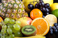 Many different exotic fruits background from Royalty Free Stock Image