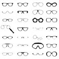 Many different glasses Stock Photography