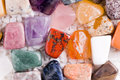 Many different natural stones Royalty Free Stock Photo