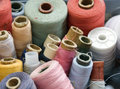 Many different reels of thread for sew Royalty Free Stock Photo