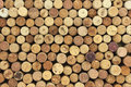 Many different wine corks in the background Royalty Free Stock Photo