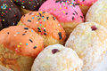 Many donuts flavor combinations.