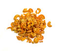 Many dried shrimp on a white background Royalty Free Stock Image