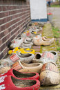 Many Dutch clogs Stock Images