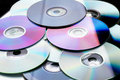 Many DVD Royalty Free Stock Image