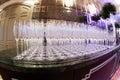 Many empty wine glasses Royalty Free Stock Photo