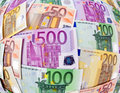 Many Euro Banknotes Royalty Free Stock Photography