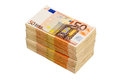 Many euro notes stack of fifty bills symbolic photo for money wealth income and expenditure Royalty Free Stock Image