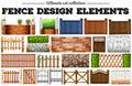 Many fence design elements
