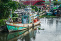 Many fishing boats docked Royalty Free Stock Photo