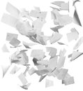 Many flying business documents isolated white Stock Images