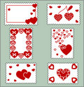 Many framework hearts Stock Images