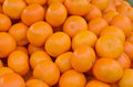 Many fresh oranges mandarin on market Royalty Free Stock Photo