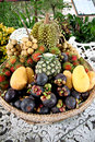 Many of fruits in the basket is domestic thailand Stock Image
