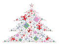 Many gift box colorful christmas tree stack Royalty Free Stock Image