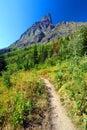 Many Glacier Hiking Trail Montana Royalty Free Stock Photo