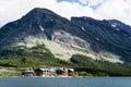 Many Glacier Hotel in Glacier National Park Royalty Free Stock Photo