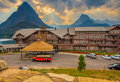 Many Glacier Hotel Glacier National Park Royalty Free Stock Photo