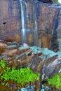 Many Glacier Waterfall - Montana Royalty Free Stock Photo