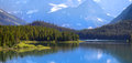 Many glaciers park recreation area in glacier national Stock Photo