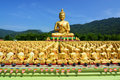 Many golden buddha statues Royalty Free Stock Photo