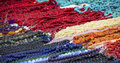 Many handmade collars in a street market Royalty Free Stock Image