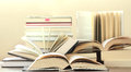 Many hardcover books closeup picture Stock Photography