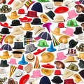 Many hats arranged as background Royalty Free Stock Photos