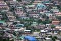 Many of hillside houses,  Nuwara Eliya, Sri Lanka Royalty Free Stock Photo