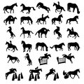 Many horses shaped figure illustration Royalty Free Stock Photo