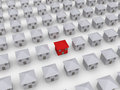 Many houses but one is different Royalty Free Stock Photo
