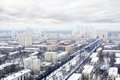 Many houses in residential district at winter cloudy day moscow russia Royalty Free Stock Image