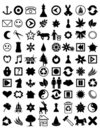 Many icons Royalty Free Stock Image