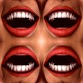 Many Mouths Seamless Tile Pattern Background 2 Stock Image