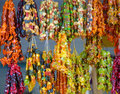 Many multi-colored healthy churchkhela is offering for sale Royalty Free Stock Photo