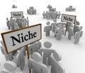 Muchos nicho grupos sobre nichos signos