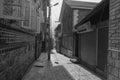 Many old houses with stone road in Srinagar, India Royalty Free Stock Photo