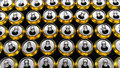 Many Opened canned drinks. Background of cans Royalty Free Stock Photo